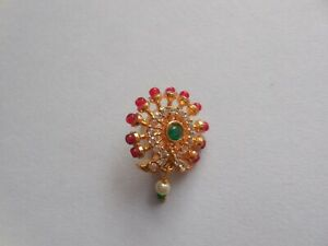 Maharashtrin Pearl Nostril Ring Pressing Wedding Nose Pin Jewelry Non Piercing