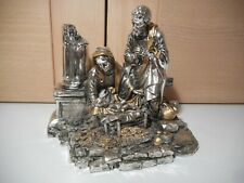 Beautiful Leonardo Argenti silver and gold metal Nativity Ornament figurine