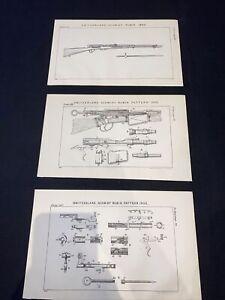 1909 Switzerland Schmidt Rubin Pattern Rifle Gun Textbook Of Small Arms