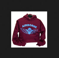 Canadian Airborne Parawings Para wings Parachutists Hooded Sweatshirt
