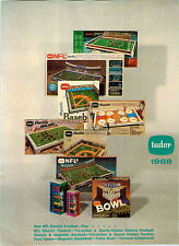 1968 PAPER AD Tudor Toy Games Electric Magnetic NFL Football Baseball Basketball