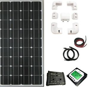 200W 180w solar panel kit 20A charger dual controller with remote LCD motorhome
