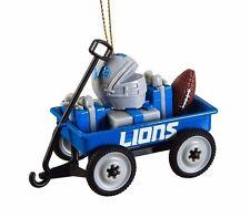 NFL Detroit Lions Team Wagon Ornament, NEW