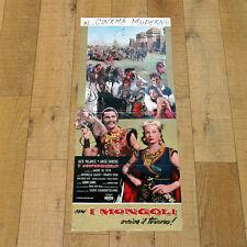 I MONGOLI locandina poster affiche Jack Palance Riccardo Freda Mongols 1961 AM16
