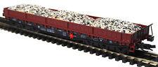 TT 1 : 120 BUSCH Flachwagen mit Schotter Haufen Samm 4818 DR Ep.IV braun # 31164