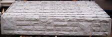 "Rock Faced concrete garden fencing gravel base barge board Brick Effect 12""X 6ft"