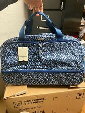Luxury Baggallini Rolling  Carry-On Duffle Bag Wheeled Luggage Blue 21