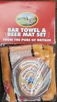 Newcastle Brown Ale Cotton Bar Towel and 10 Beermats (pp)