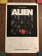 Alien - Original 1979 Rolled Advance 1sheet Movie Poster - Weaver - Ridley Scott