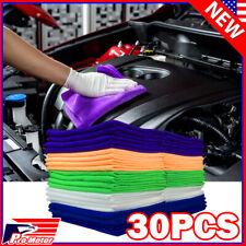 30 Pack Microfiber Cleaning Cloth No-Scratch Rag Car Polishing Detailing Towel P