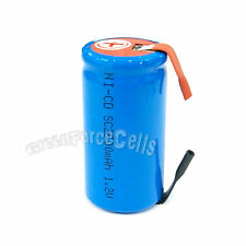 1 pc SubC Sub C 2500mAh 1.2V NiCd Rechargeable Battery Cell with Tab Blue