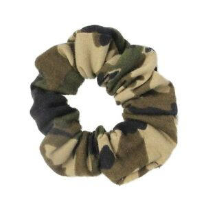 Camouflage Print Jersey Hair Scrunchie Bobble Hair Band Elastic - Accessories