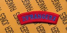 US Army 29th RANGERS Infantry Division tab arc patch