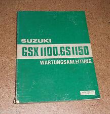 Werkstatthandbuch Suzuki GSX 1100 / GS 1150 Stand 07/1984