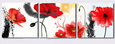 80x80CM *3PCS Fashion Flower Handmade Frameless Hanging Wall Art Oil Painting