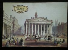 POSTCARD LONDON LINEN - THE ROYAL EXCHANGE- LITHOGRAPH BY  G SHEPHERD