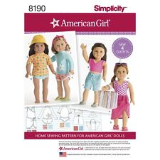 SEWING PATTERN! AMERICAN GIRL DESIGNS FOR DOLLS! SUMMER CLOTHES~BEACH~SWIM~PLAY