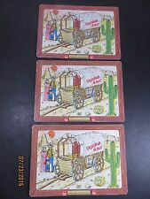 Vintage Burger Chef Board Puzzles Prairie Schooner lot of 3