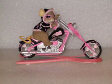 CHARMING TAILS PINK RIBBON MOTOCYCLE BREST CANCER FIGURINE