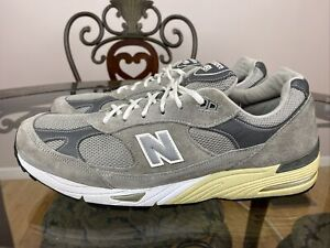 New Balance 991 M991GL Kith Grey Suede USA Sz 14 D Running Shoes 992 993 RARE