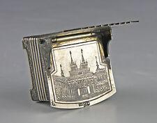 Silber Salzthron Moskau Russland 1872 Meistermarke ПМ 84 Zolotniki Niello Tula