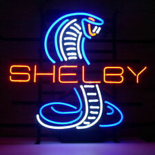 "Shelby Cobra Neon Light Sign Real Glass Beer Bar Store Shop Car Dealer 17""x14"""
