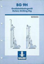 Equipment Brochure - Bauer - BG 9H  - Rotary Drilling Rig (E3431)