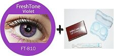 Contact Lenses Colored  FRESHTONE® Violet + Case + AVIZOR solution 10 ML