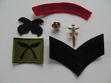 British Army Queen's Gurkha Engineers Cap/Rank Badge/Shoulder Title & Gurkha TRF