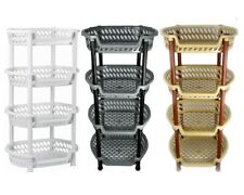 KITCHEN STORAGE STACKING STACKABLE BASKET FRUIT VEGETABLE RACK 4 TIER