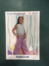 Stylecraft Girls Sleeveless Vest Top Knitting Pattern Booklet 8020 - Size 20-30""