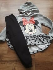 Disney Minnie Mouse Outfit Girls Size 4 Hoodie Pullover & Sweatpants
