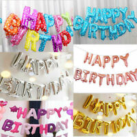Happy Birthday Balloons Banner Balloon Bunting Party Decoration 16inch You Pick