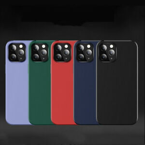 Magnetic Solid Silicone phone back case For iPhone 12 11 Pro Max Christmas gift