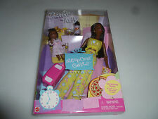 NEW BARBIE & KELLY SLEEPOVER GIRLS GIFT SET MATTEL WALLMART EDITION AFRICAN 2002