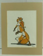 Michael Higgs Foxtaur Anthropomorphic Furry Fandom Art Character Drawing 1989