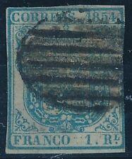 España - Correo- Año: 1854 - numero 00034A - US Escudo España Pequeña rotura / O