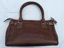NEW**Argentinian Brown Calf Leather***HALO**Medium Tote Duffle Bag***$1150