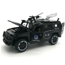 Police SWAT Truck Toy Model Patrol Armoured SUV Alloy Diecas  Repli Car Collect