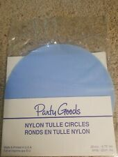 "25 Pieces- 8.75"" Nylon Tulle Round Circles Wedding Party Favor light blue new!"