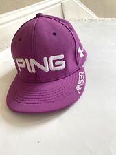 NEW Purple PING UNDER ARMOUR HEATGEAR Anser-Mahan-Hunter Golf Baseball cap L/XL