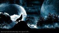 US SELLER, bedroom decorating idea native American spirit animal wolf art poster
