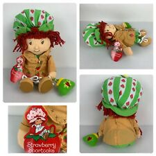 Strawberry Shortcake With Coat And Green Hat Holding Purse Doll Plush 2005 New