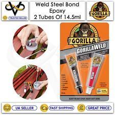 More details for gorilla weld steel bond 2 pack hardener & resin titanium bond epoxy 10min