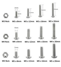 440pc M3 M4 M5 A2-70 304 Stainless Hex Socket Button Head Cap Screw Bolt Nut Box
