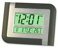 Tuelip Jumbo Liquid Crystal Display 5887NL Alarm Clock for Table-Wall Blue
