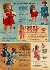 1965 ADVERTISEMENT Spank Me Doll Tina Thumbelina Mattel Baby First Step Posi
