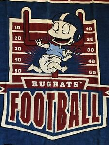 Vintage RUGRATS Football Throw Blanket Tommy Pickles THE NORTHWEST COMPANY 56x42