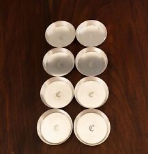 - (8) REFINED AMERICAN HEAVY GAUGE STERLING SILVER COASTERS OR NUT DISHES