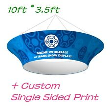 Ceiling Banner Display Trade Show Tapered Circle Hanging Sign+One Sided Graphic